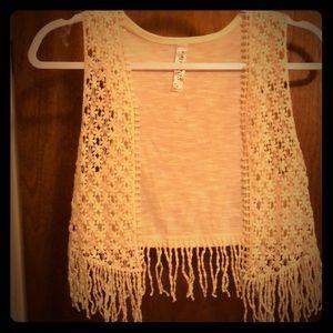BOHO tweens Crocheted Vest